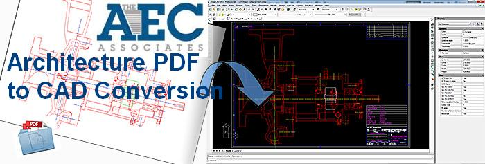 Architecture PDF to CAD Conversion