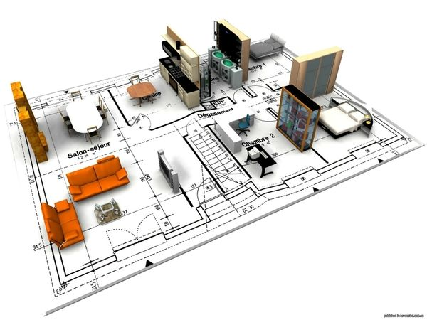 3D views for Architectural drafting services