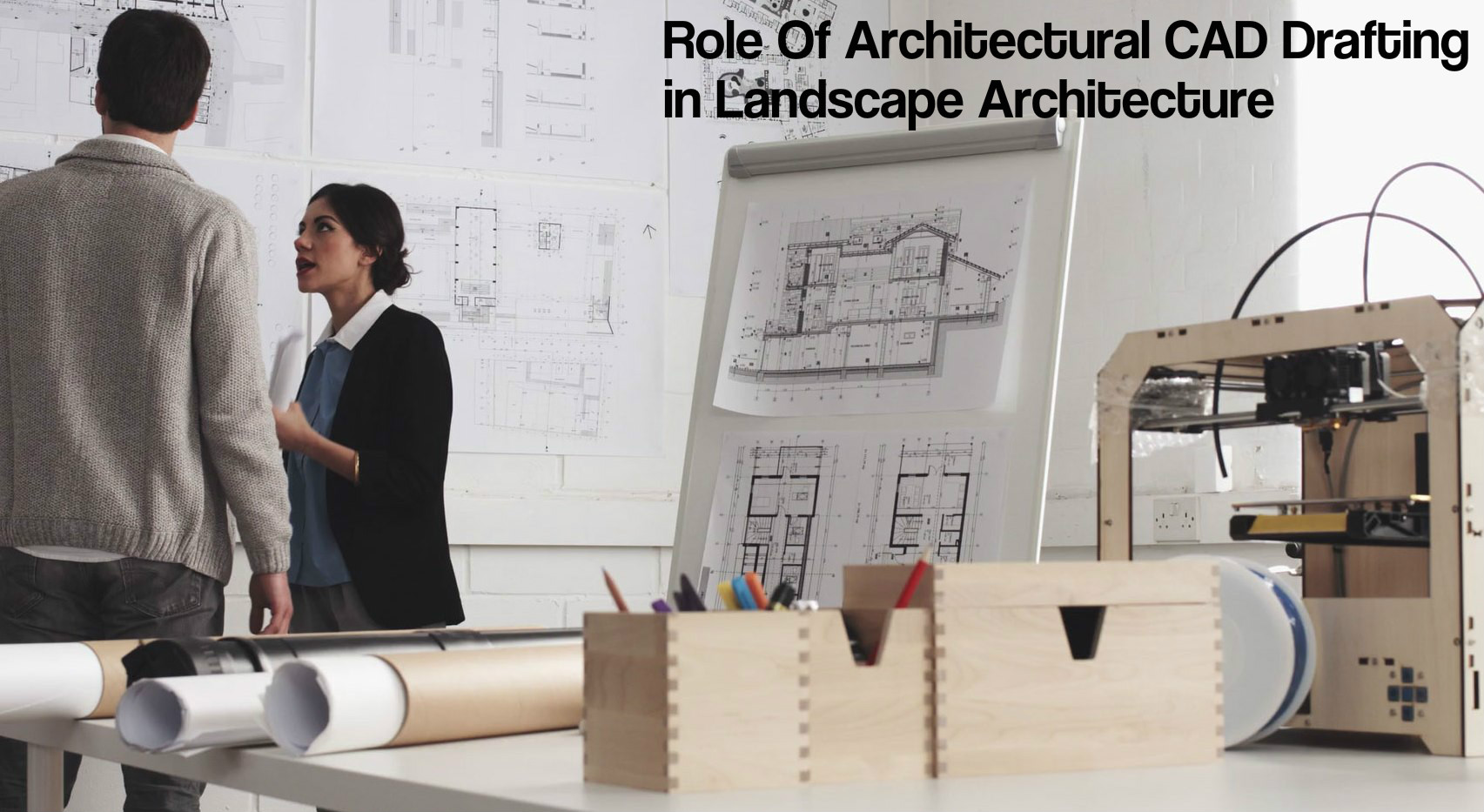 Architectural CAD drafting in landscape architecture